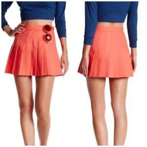 American Apparel gabardine pleated tennis skirt